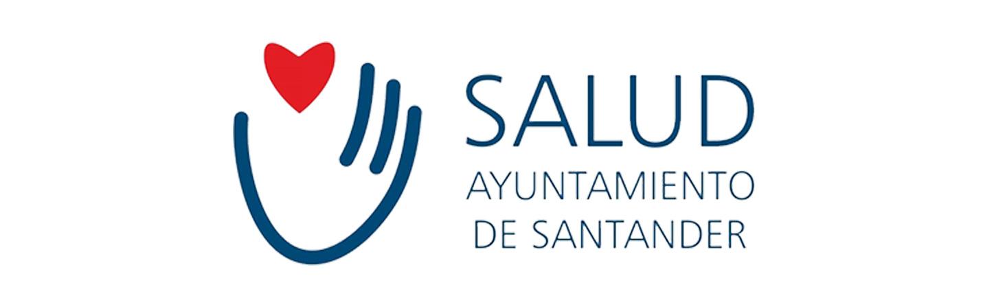 Logotipo Area de Salud del Ayuntamiento de Santander en colaboración con la Clínica Gardoqui