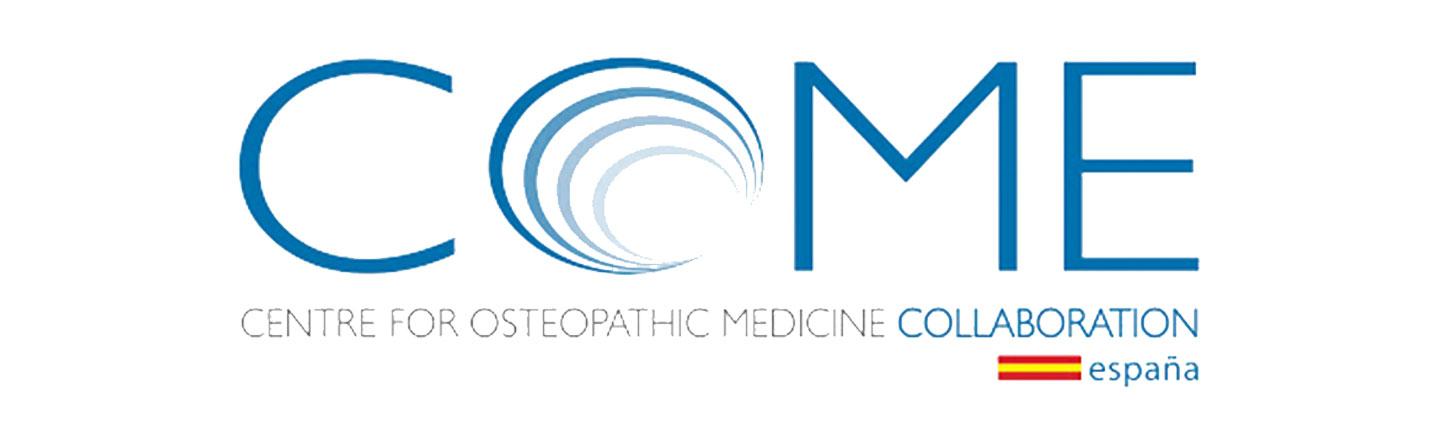 Logotipo Centre for Osteopathic Medicine Collaboration COME en colaboración con Jaime Gardoqui